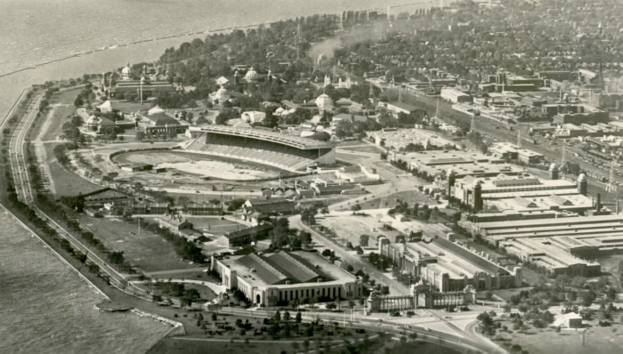 Aerial view of exhibition grounds