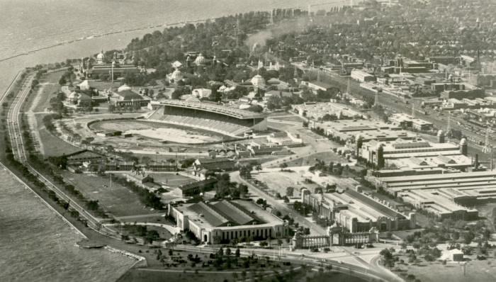 Vue aérienne du site de l'exposition