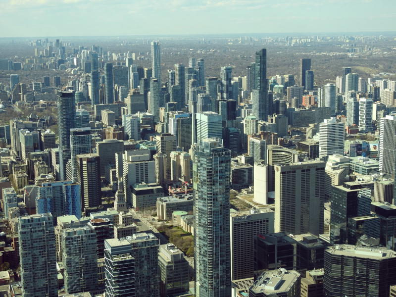 Vue aérienne d'une grande ville