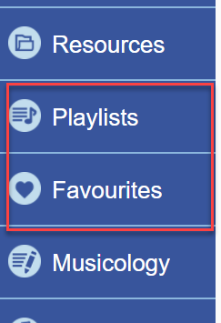 Naxos Library Playlists  Favourites