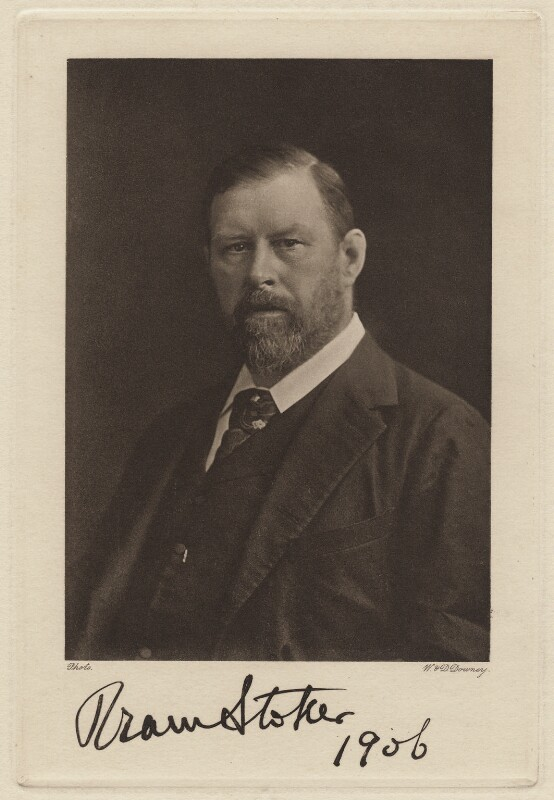 Autographed photograph of Bram Stoker