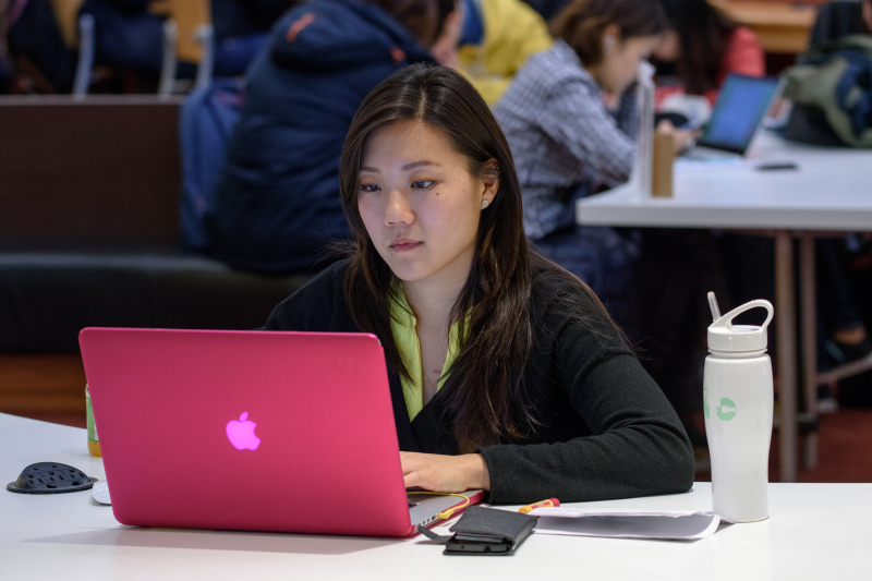 Young woman on laptop