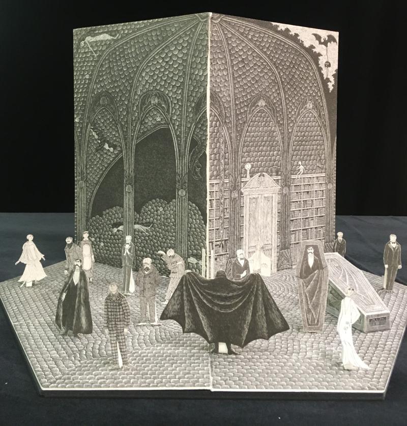 Dracula toy theatre designed by Edward Gorey
