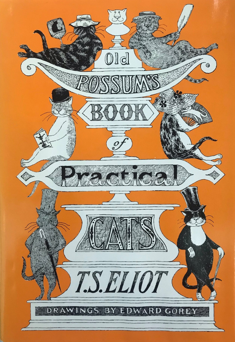 Cover of Old Possum's Book of Practical Cats by T.S. Eliot with Drawings by Edward Gorey