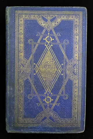 Blue and gold embossed cover of Ghost Stories