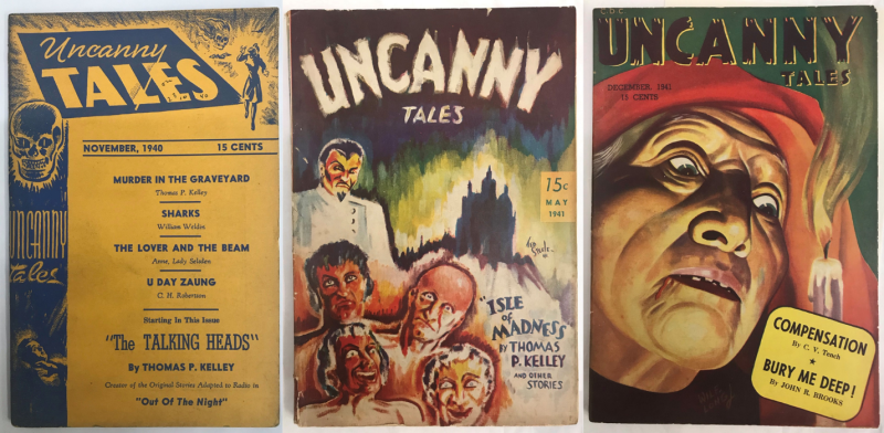 Covers of Uncanny Tales (November 1940  May 1941 and December 1941 issues)