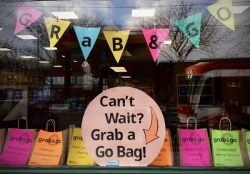 Grab and go window at College Shaw Branch