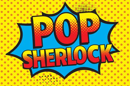 """Pop art style logo """"Pop Sherlock"""""""