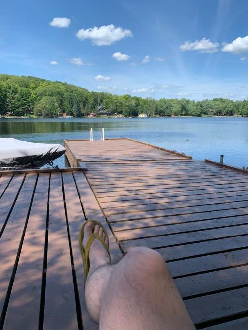Dock at Stoney Lake cottage