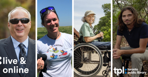 Jerry Berrier, Freya McGregor, Virginia Rose and Andres - Accessible Birding Program