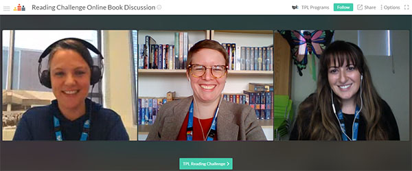 Staff hosts for TPL Reading Challenge online discussion