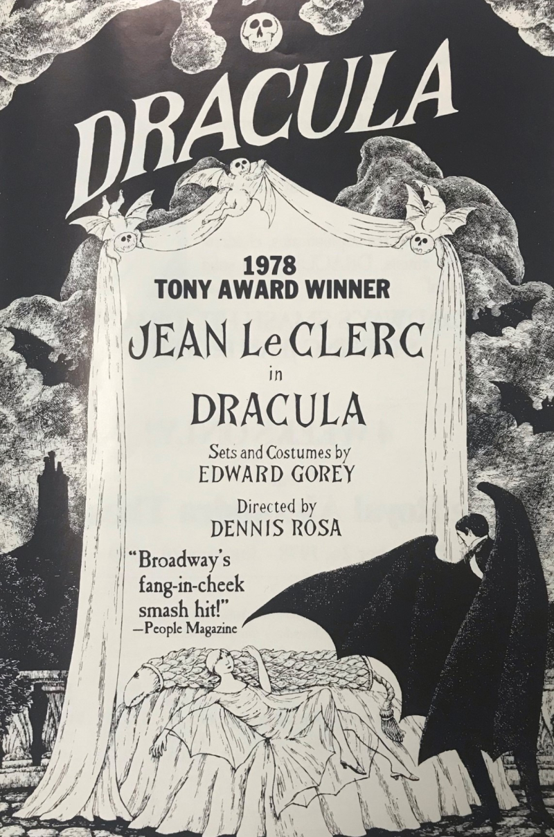 Program for the Toronto run of Dracula with designs by Edward Gorey