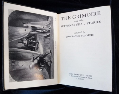 Interior title page for The Grimoire