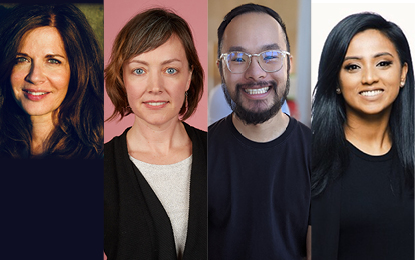 Cindy Fruitman, Jennifer Gaudette, Ken Lee and Tharsheka Natkunam