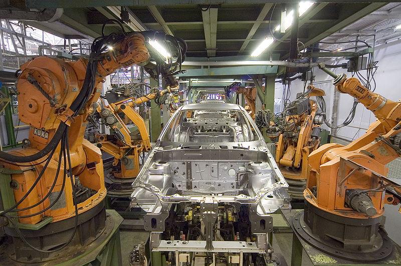 Robotics in consumer vehicle manufacturing.