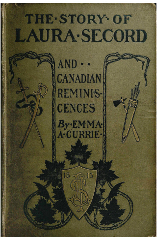 Vintage book cover with emblem with date of 1813, swords, axes and arrows