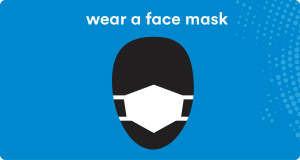 wear a face mask icon