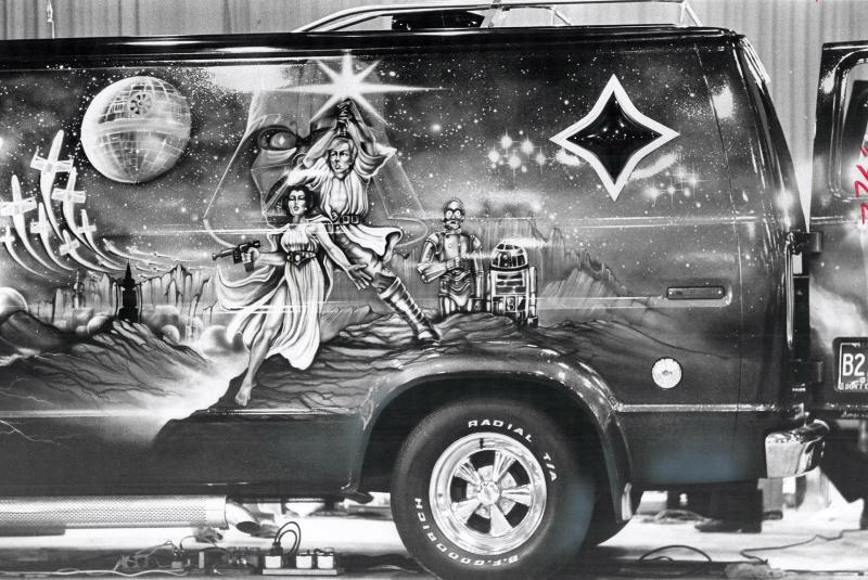 Star Wars Van mural