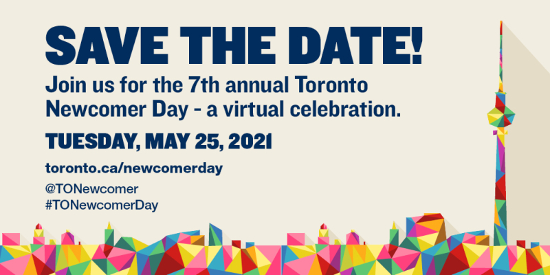 Toronto Newcomer Day 2021 - Save the Date