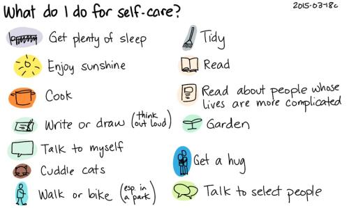 What do I do for self-care?