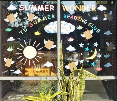 Summer Wonder window display at Leaside branch