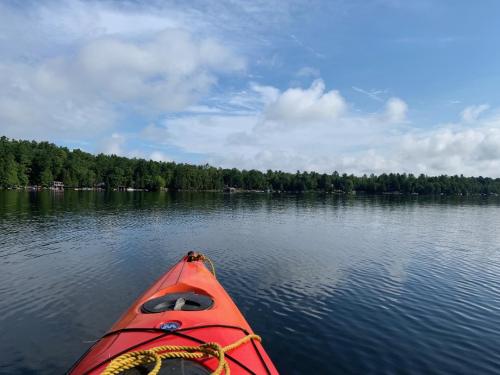 Kayaking on Stoney Lake (Bill V photo)