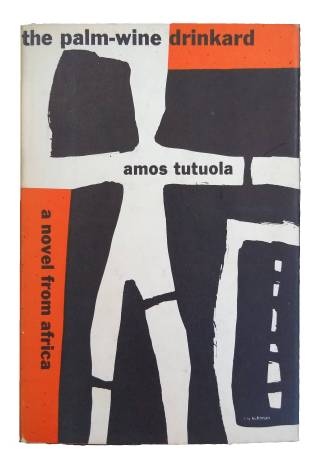 A book cover with a modern abstract design in black, white and orange.