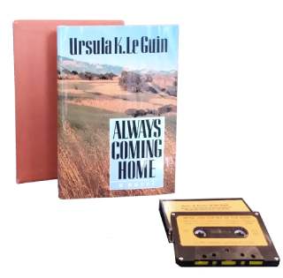 Box set with audiocasette. The book cover with pastoral landscape.