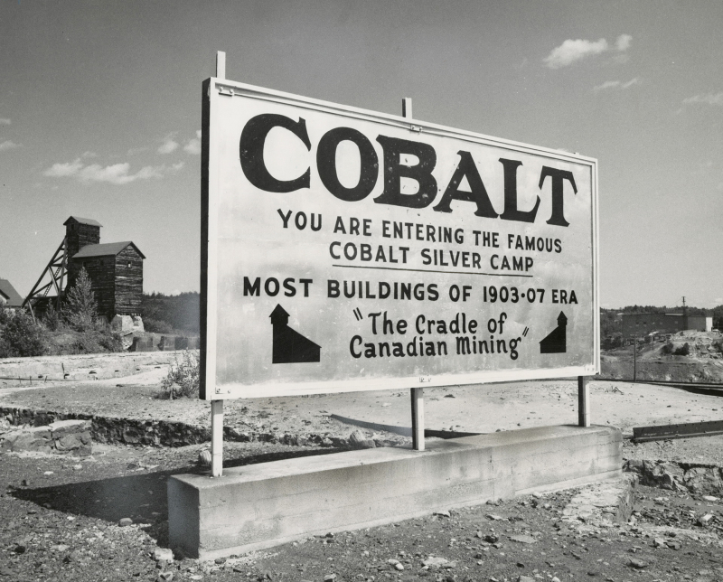 Sign cobalt 1950's