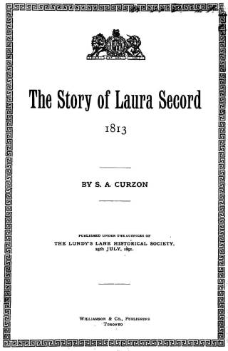 Black and white title page of book with decorative border