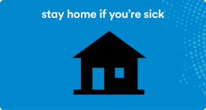 stay home if you're sick icon