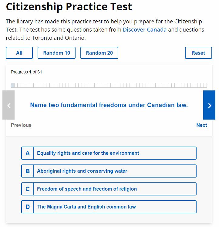 Citizenship Test capture