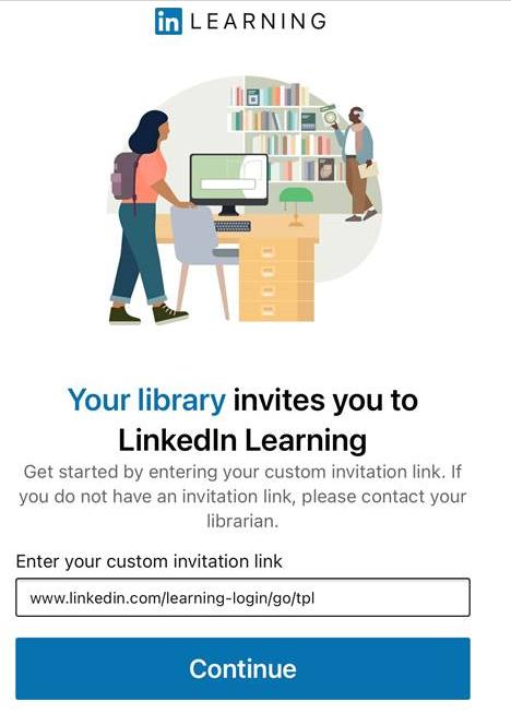 LinkedIn Learning App screen