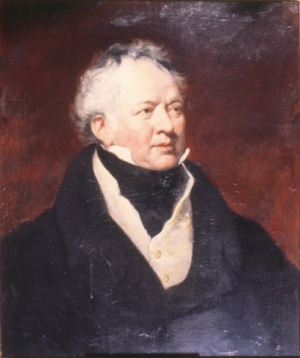 Painting of portrait of Sir Francis Gore