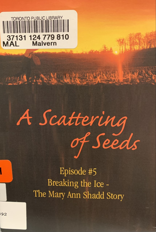 A Scattering of Seeds DVD on Mary Ann Shadd cover